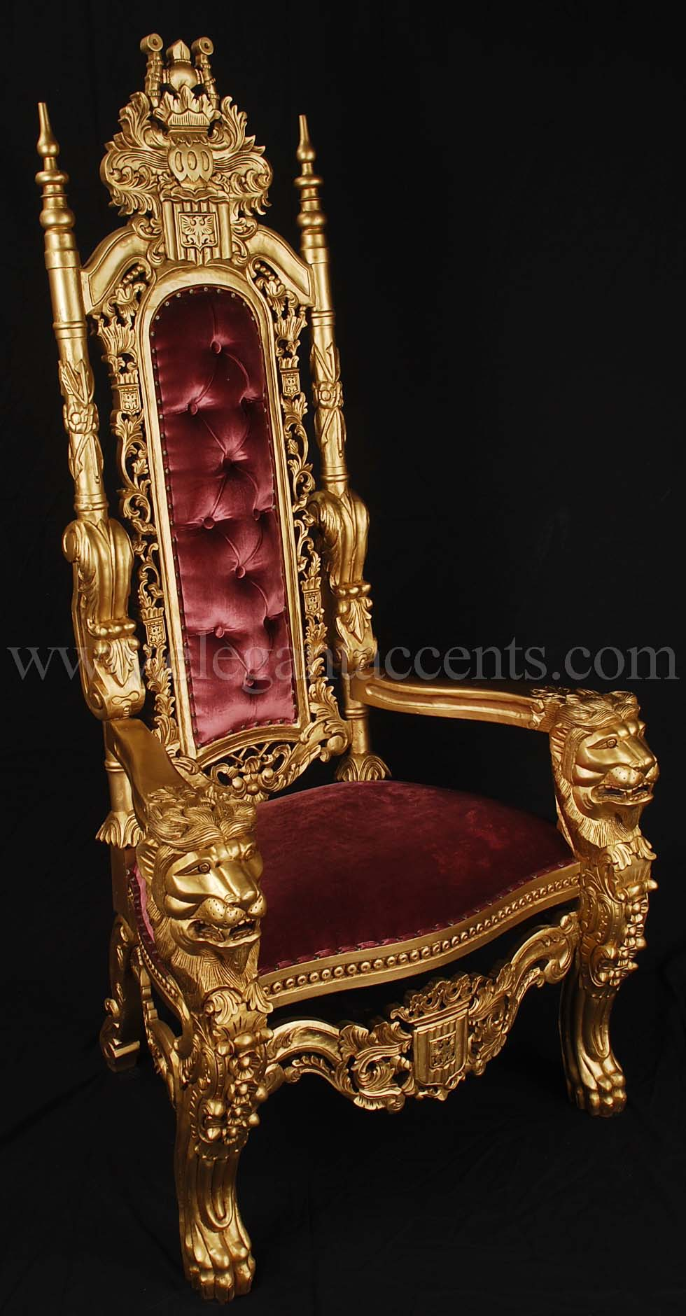 Gold kings chair - Products Gt Accent Chairs Amp Thrones Gt Throne Chairs
